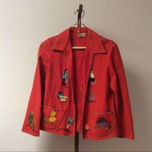 Vtg. 1950's Ladies Mexican Souvenir Jacket